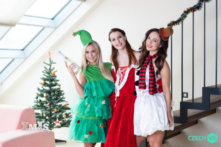 FREE FULL VIDEO: Christmas With a Bang – Kristy Black & Lola Myluv & Charlie Red